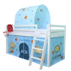 FoxHunter Basketball Themed Wooden Mid Sleeper Cabin with Tent +Tunnel + Basketball Backboard RRP £209.99 now just £99.90 Del @ eBay / kmsdirectshops