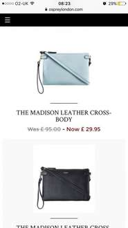 Genuine leather bags £29.95 from osprey London