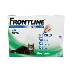 FRONTLINE Spot On for Cats, 6 Pipettes £20.48 Prime @ Amazon