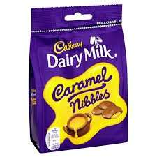 cadburys nibbles 120g bag 50p @ asda