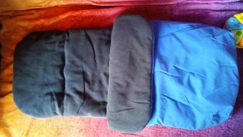 Blue or pink fleece lined footmuff