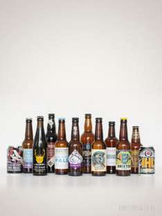 Half price beer - twelve craft beers delivered for £18 ( = £1.50 each) at Honest Brew