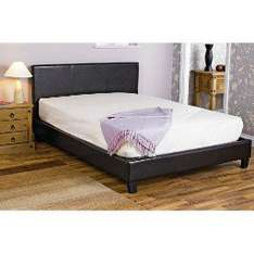 BLACK - FAUX LEATHER BED FRAME KING   Was £129.99  Now £49.99 @ Poundstretcher
