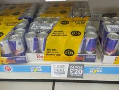 Redbull Energy drink full of adrenalin wings 24 can case £20 Poundland