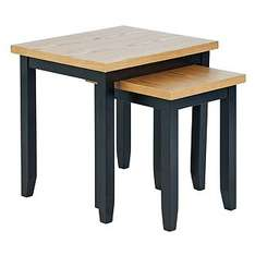 Hygena Luna Nest of 2 Tables - Black was £79.99 now £19.99 @ argos
