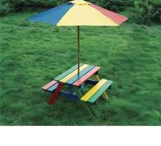 kids wooden picnic bench £9.99 @ b&m in store