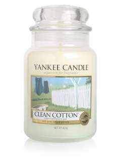 2 large Clean Cotton Yankee Candle jars for £26.38 @ Clintons