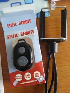 Selfie remote  (works on android and ios) £1 also gorilla stand £1 Poundworld Harrogate
