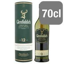 glenfiddich matl whiskey 70cl £26 @ Tesco