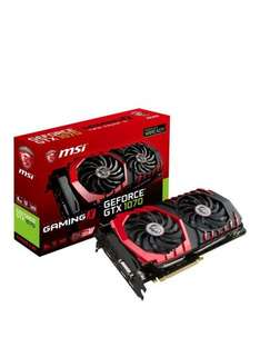 MSI GeForce GTX 1070 GAMING X 8GB Graphics Card (£404 after creditback) @ Very £504