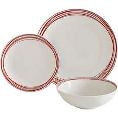 ColourMatch 12 Piece Stoneware Dinner Set £8.99 @ Argos