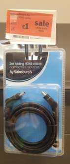 2m folding HDMI cable was £4.99 now £1.00 Sainsbury Dulwich