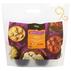 Indian meal deal for 2 now £4 @ Asda (curries alone are £3 each)