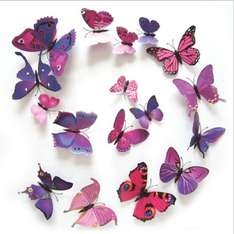 12PCS 3D PVC Magnet Butterflies DIY Wall Sticker Home Decor New Arrival Hot Sales FREE DELIVERY 80p @ aliexpress ( seller - Shenzhen Vakind Technology Co., Ltd.)