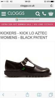 Back to school - girls patent leather t bar kickers women's sizes 3-7 £49.99 @ Cloggs