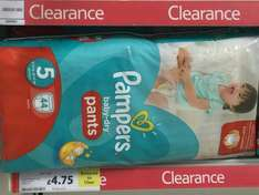 Pampers Baby-Dry Pants Size 5 Junior 44 Pack RTC Tesco Bexhill - £4.75