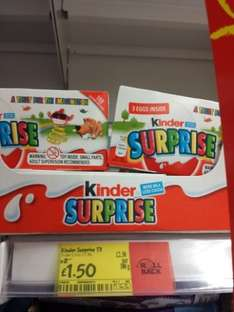 kinder Surprise 3 pack only £1.50 ASDA