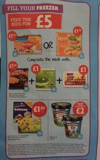 £5 Meal Deal from Nisa Stores. chicken dippers/ quorn chicken nuggets , chips, peas, ice cream