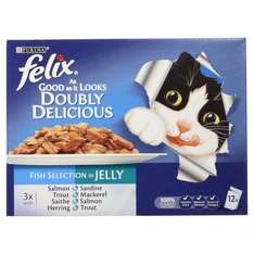 Felix As Good As It Looks Adult Doubly Delicious Mixed Variety Fish Selection in Jelly Cat Wet Food, 12 x 100g @ Amazon Pantry £2.75 + 2.99 Del (Unless you've got some £3 pantry credits about!)