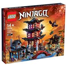 20% off LEGO Ninjago Temple of Airjitzu 70751 & LEGO DC Comics Super Heroes Batman Classic TV Series Batcave 76052