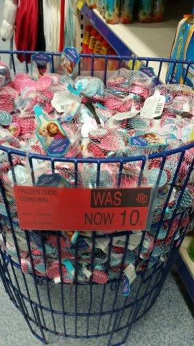 B&M Frozen Choc Coins down to 10p Bathgate store