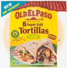 Old El Paso Soft Flour Tortillas (8 = 326g) was £1.40 now 93p @ Waitrose