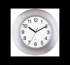 Quartz Wall Clock - Silver Effect Only £2.99 @ Homebase