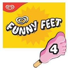 Wall's Funny Feet Strawberry Ice Cream Lollies (316ml) was £1.95 now 3 for £3.00 @ Asda
