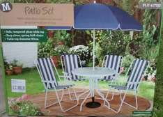 Cheap 4 chair garden patio set with parasol £20 @ Morrisons