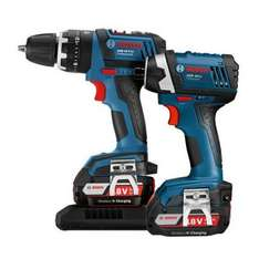 BOSCH COMBI + IMPACT DRIVER WIRELESS CHARGING with  2 X 2.0 - plus FREE 4ah through Bosch £190 delivered @ Anglia Tool Center (plus possible 6% quidco)