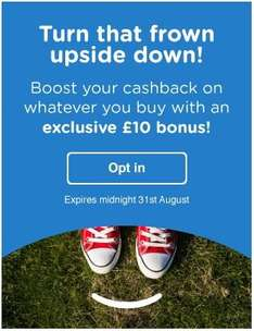 Quidco - Turn that frown upside down £10 cashback bonus (selected accounts)