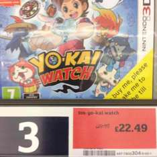 Yo-Kai Watch 3DS at Sainsbury's in-store £22.49
