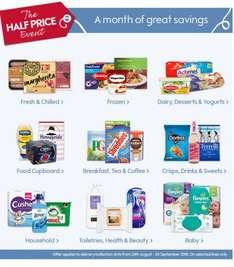 Waitrose half price event Aug 24th-Sept 20th