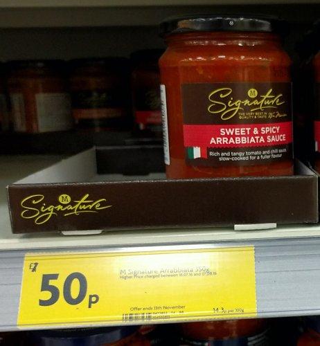 Morrisons Signature Pasta Sauces 350g Jars - £0.50