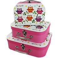 Portobello Owl Storage Suitcases - Set Of 3 now £4 C+C @ The Works (also others £7 each or 2 for £10)