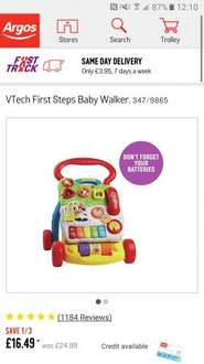 Vtech first steps baby walker now £16.49 at argos