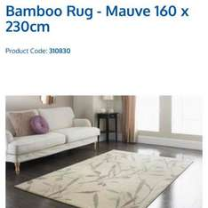 bamboo mauve 160x230cm was £69.99 now £9.99 @ B&M - Coventry