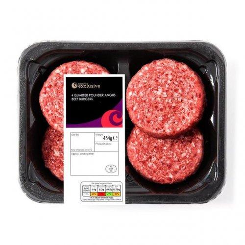 Ocado Exclusive 4 Quarter Pounder Angus Beef Burgers (454g) was £3.00 now BOGOF @ Ocado