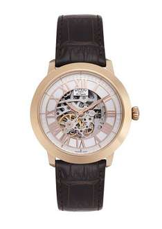 Rotary Watches Men's Automatic Watch with White Dial Analogue Display and Brown Leather Strap £66 @ Amazon