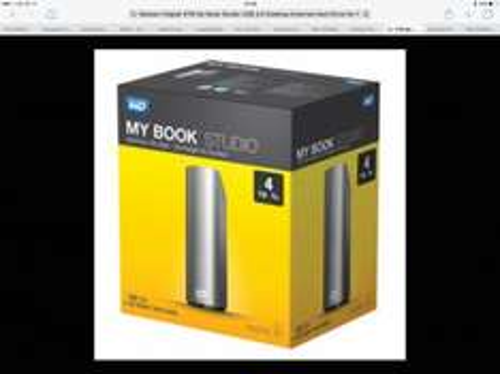 Western Digital 4TB My Book Studio USB 3.0 Desktop External Hard Drive for Mac £98.99 free c&c @ Maplin