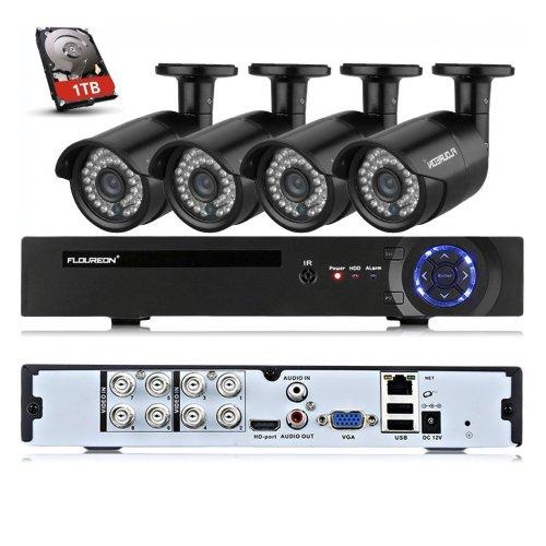 CCTV System 4xHD cameras, 1TB HDD DVR - £100 off at Amazon