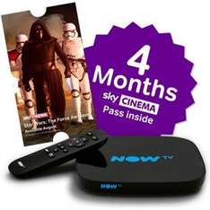 Now TV New Style Freeview HD Box With 5 Months Entertainment or 4 Months Movies at Argos for £34.99