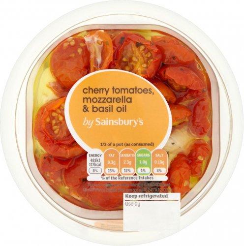Sainsbury's Mozzarella Cheese & Semi Dried Cherry Tomatoes (200g) was £2.85 now £1.50 @ Sainsbury's