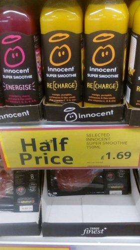 Innocent Super Smoothie Energise 750Ml £1.69 @ Tesco