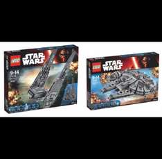 LEGO Millennium Falcon 75105 + Kylo Rens Command Shuttle 75104 for £135 @ ASDA