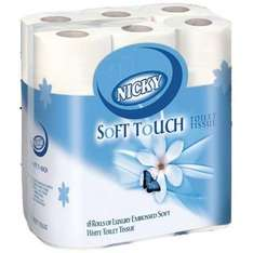 Nicky Soft Toilet Roll (2 Ply) (2 packs of 18 = 36 Rolls) ONLY £6.98 @ Staples