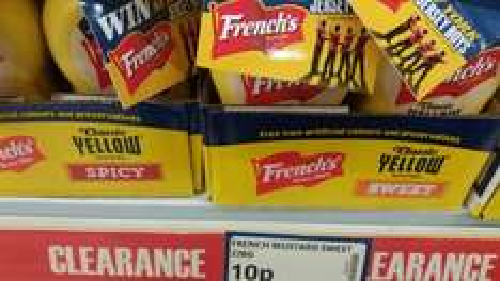 frenchs sweet mustard 10p 226g bottles 10p @ poundstretcher