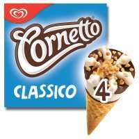 Cornetto Classico or Strawberry (4 x 90ml) pack was £2.00 now £1.00 or 80p with your mywaitrose picks @ Waitrose