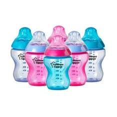 6 x Tommee Tippee Closer to Nature Coloured Bottles (Pink) £10 prime or £13.99 non prime @ Amazon