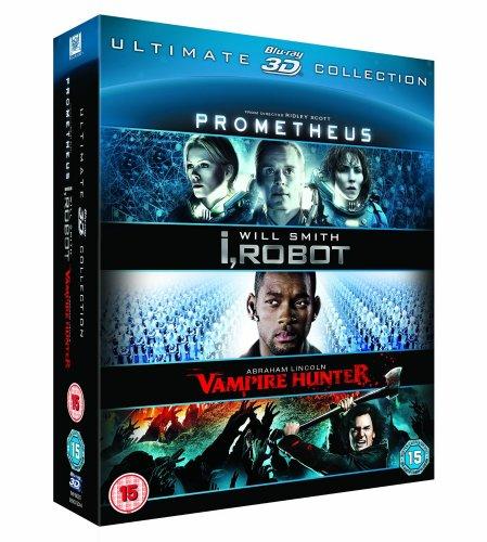Prometheus, I Robot & Abraham Lincoln Vamp Hunter - 3D blu-ray triple pack £10 (Prime member exclusive) @ Amazon